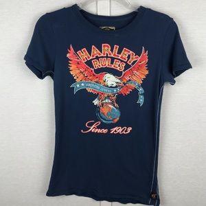 *RARE* TRUNK LTD HARLEY-DAVIDSON Harley Rules Tee